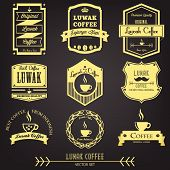 Luwak Coffee Premium Vintage Label