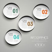 Circle Paper Label Infographic Elements