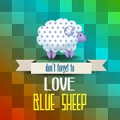 Poster With Sheep And Message