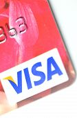 Closeup of VISA credit card
