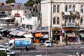 View On The Landmarks Of Jerusalem Old City .