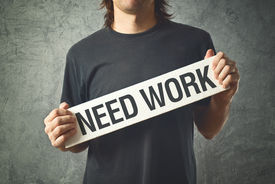 picture of unemployed people  - Man needs a job - JPG