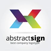 Abstract vector logotype concept isolated on white background