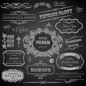 Retro Calligraphic design elements. Invitation frame. Collection of Frames and decorative vector elements