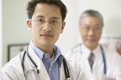 Portrait of male doctors