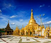 foto of yangon  - Myanmer famous sacred place and tourist attraction landmark  - JPG