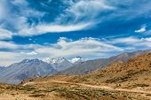 stock photo of himachal pradesh  - Himalayan landscape of Spiti valley - JPG