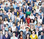 Large Group of Diverse Multiethnic People