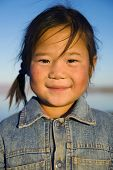 picture of mongolian  - Happiness beautiful Asian Mongolian girl - JPG