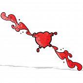 heart pumping blood cartoon