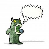 frightened monster cartoon