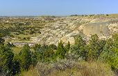 Badlands Panorama On A Summer Day