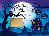 Scenery with Halloween thematics 3 - eps10 vector illustration.