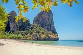 Railay west beach view, Krabi, Andaman sea Thailand