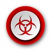 biohazard red modern web icon on white background