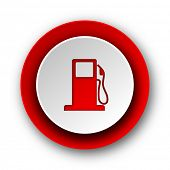 petrol red modern web icon on white background