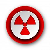 radiation red modern web icon on white background