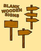 blank wooden signs
