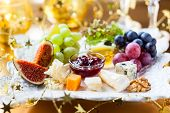 Cheese platter for Christmas