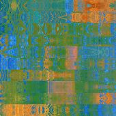 art abstract geometric horizontal stripes pattern background in blue, orange and green colors