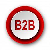 b2b red modern web icon on white background