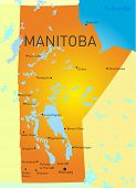 Manitoba Canada province vector color map