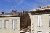saint emilion architecture, in aquitaine, france