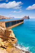 Aguilas Embarcadero del Hornillo pier Murcia in Mediterranean Spain