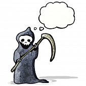 picture of scythe  - cartoon death with scythe - JPG