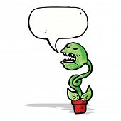 cartoon venus fly trap