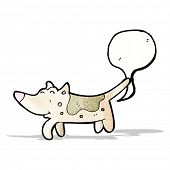 image of fart  - farting dog cartoon - JPG
