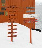 Antarctic Sign Posts