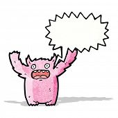 cartoon frightened monster