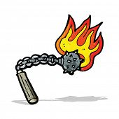 cartoon flaming mace