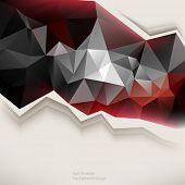 eps10 vector triangular elements business background
