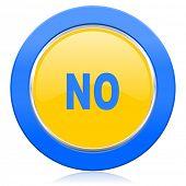 no blue yellow icon