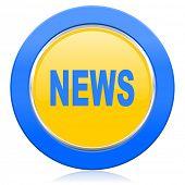 news blue yellow icon