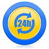 24h blue yellow icon