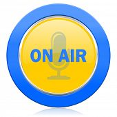 on air blue yellow icon
