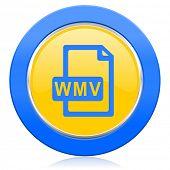 wmv file blue yellow icon