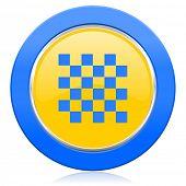 chess blue yellow icon