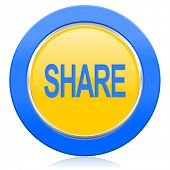 share blue yellow icon