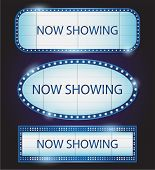 Now showing banner sign collection
