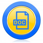 doc file blue yellow icon