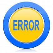 error blue yellow icon