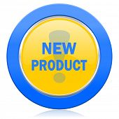 new product blue yellow icon