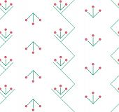 Embroidered pattern on fabric, seamless