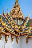 Roof Of Wat Phra Kaew, Temple Of The Emerald Buddha, Bangkok, Thailand.