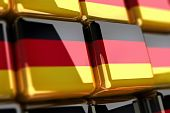 German Flag-cube