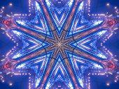 Ethnic Pattern. Abstract Kaleidoscope